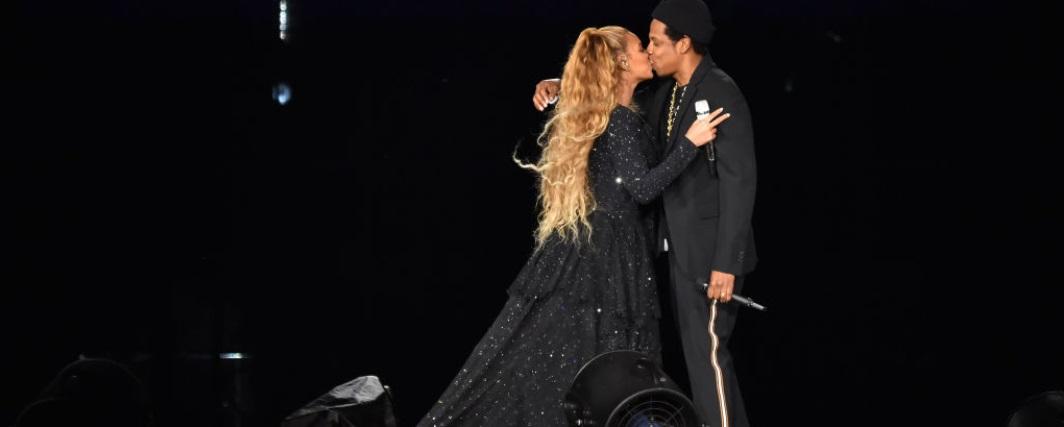 Bacio fra Beyoncé e Jay-Z